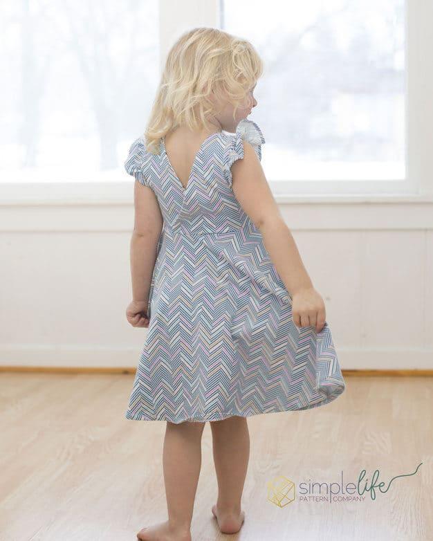 Knit Ayda's V Back Peplum + Dress | The Simple Life Pattern Company