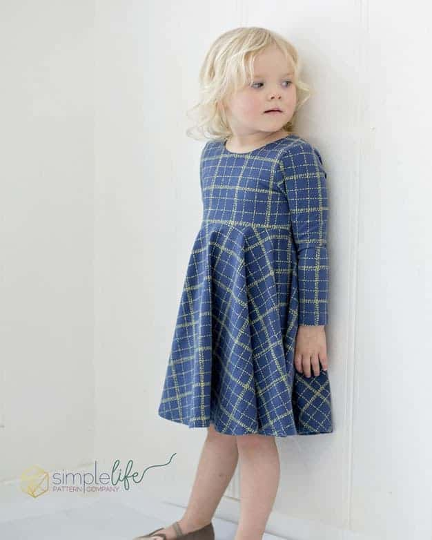 Simple Knit Dress Pattern : Knit Aydas V Back Peplum + Dress The Simple Life Pattern Company