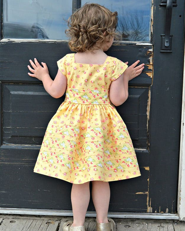 Rayann's Retro Top Dress & Maxi cap sleeves long sleeves tank top button sash no closures square neckline. beginner easy pattern accent strips simple vintage beach summer spring winter fall back to school code bubble romper add on PDF sewing pattern sizes 2t-12 art gallery fabrics