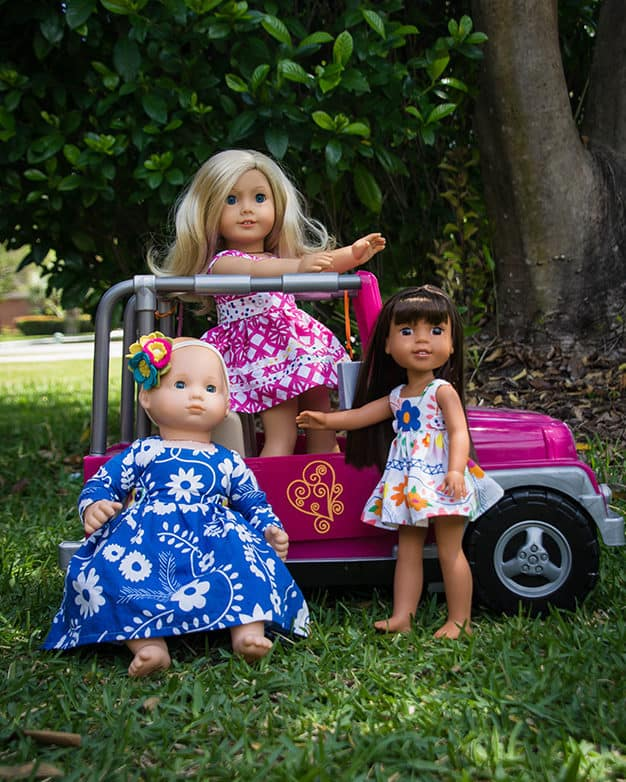 Simple Life pattern company doll rayann dolly retro top dress and maxi vintage doll patterns for american girl wellie wisher and bitty baby and my generation