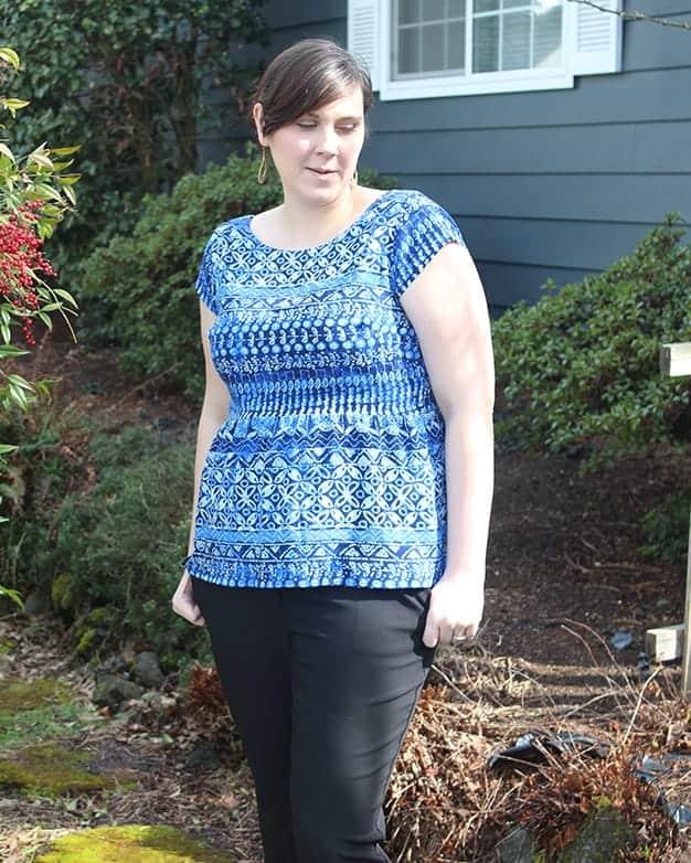 Women\'s Ayda V back Peplum Top & Dress Collaboration with Sew ...
