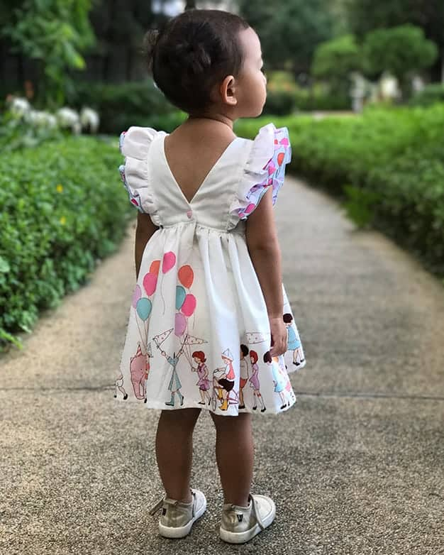 Baby Jaimesyn's Double Flutter Pocket Top & Dress  PDF sewing patterns for  baby sizes NB - 24 months