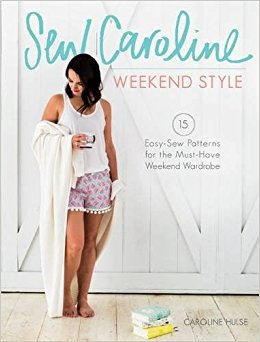 Simple Life Pattern Company on the Weekend Style Blog Tour. A book blog tour by Caroline Hulse of Sew Caroline. Tilly tee, Boardwalk shorts sewn in all knit Art Gallery Fabrics Wonderful Things by Bonnie Christine Going home to roost slpco