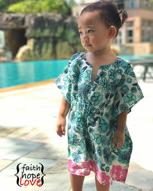 SImple Life Pattern Company Cordelia's Swim Cover pdf sewing pattern girls 2t-12 slpco swim cover up beach pool