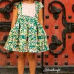 Ava's Pleated Dress   Simple Life Pattern Company pdf sewing pattern girls 2t-12 slpco pleats, pleated skirt box pleat sweetheart neckline spring, summer, fall, winter, sleeveless, long sleeve, button keyhole, deep hem, embroidery, bodice insert, top, dress