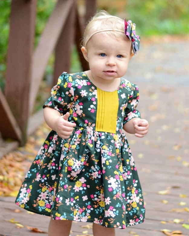 Baby Helena\'s Button Back Top & Dress. PDF Sewing Pattern For Baby ...