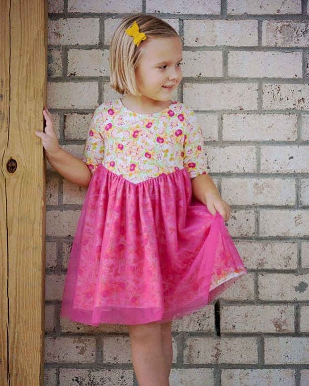 Girls Dresses With Sleeves The Simple Life Pattern Company Best Toddler Dress Patterns