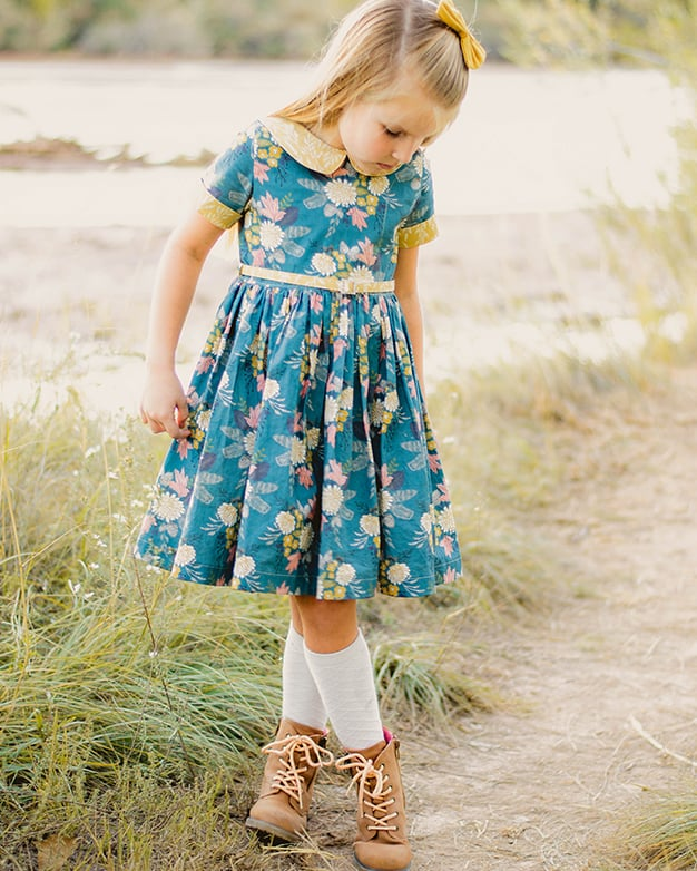Wendy's Classic Collar Dress PDF Downloadable Sewing Pattern Best Toddler Girl Dress Patterns
