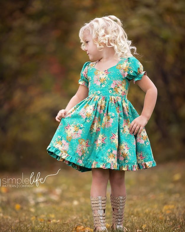 Girls Dresses with Sleeves | The Simple Life Pattern Company