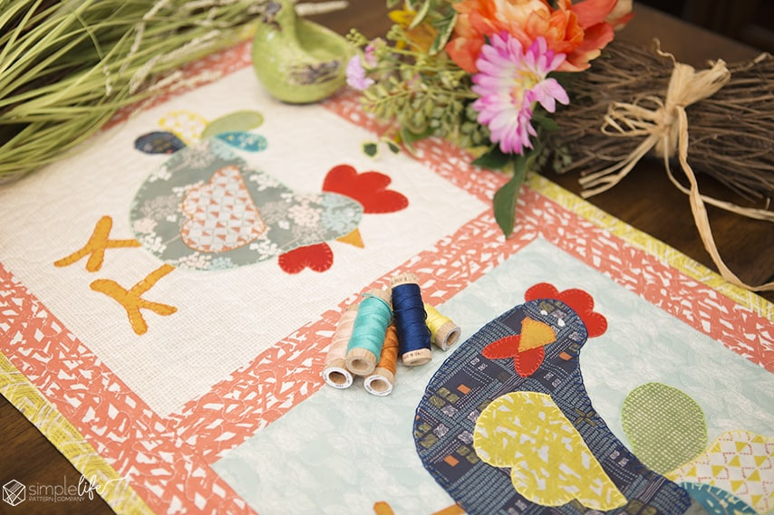 Free Crazy Chicken Table Runner Or Wall Hanging Pdf