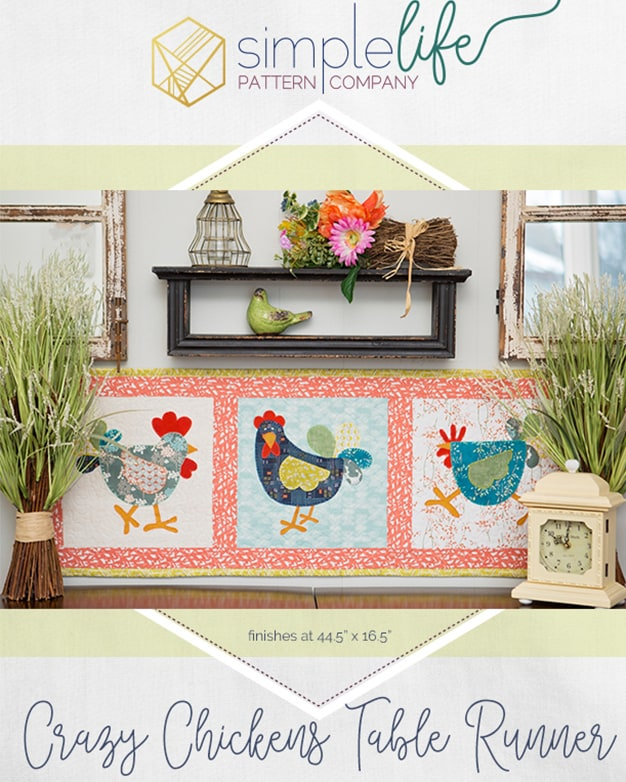 Free crazy chicken table runner or wall hanging pdf downloadable free crazy chicken table runner or wall hanging pdf downloadable sewing quilt pattern watchthetrailerfo