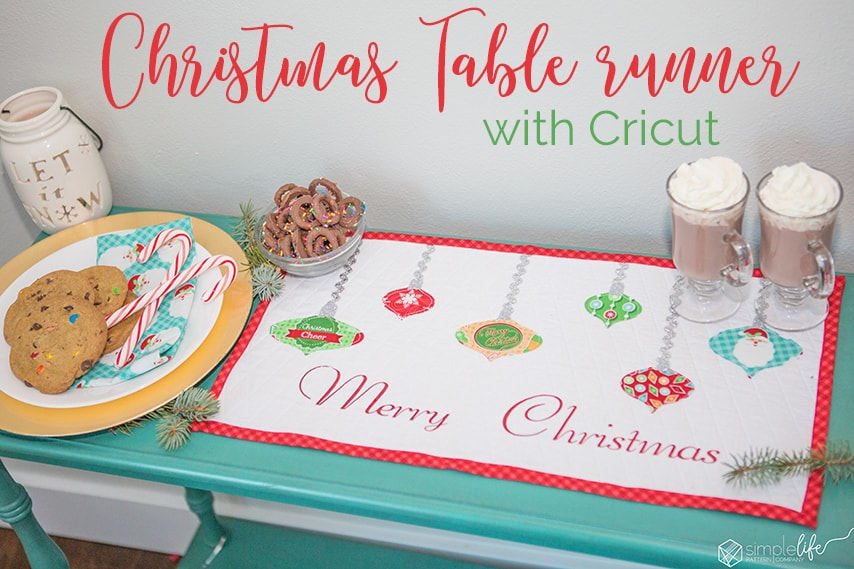 Make a Christmas table runner with Cricut Explore Air 2 +