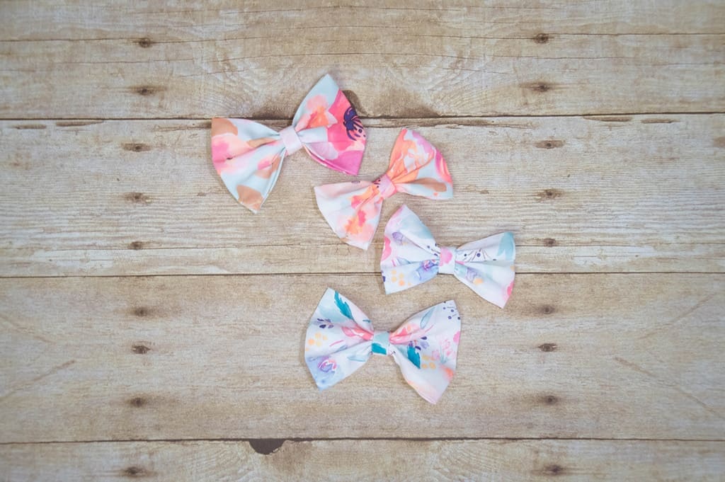 Simple Life Pattern Company | DIY Fabric Hair Bow Tutorial Hair Bows Tutorial Bow Fabric Girl DIY Indy Bloom Fiskars Hair Clip