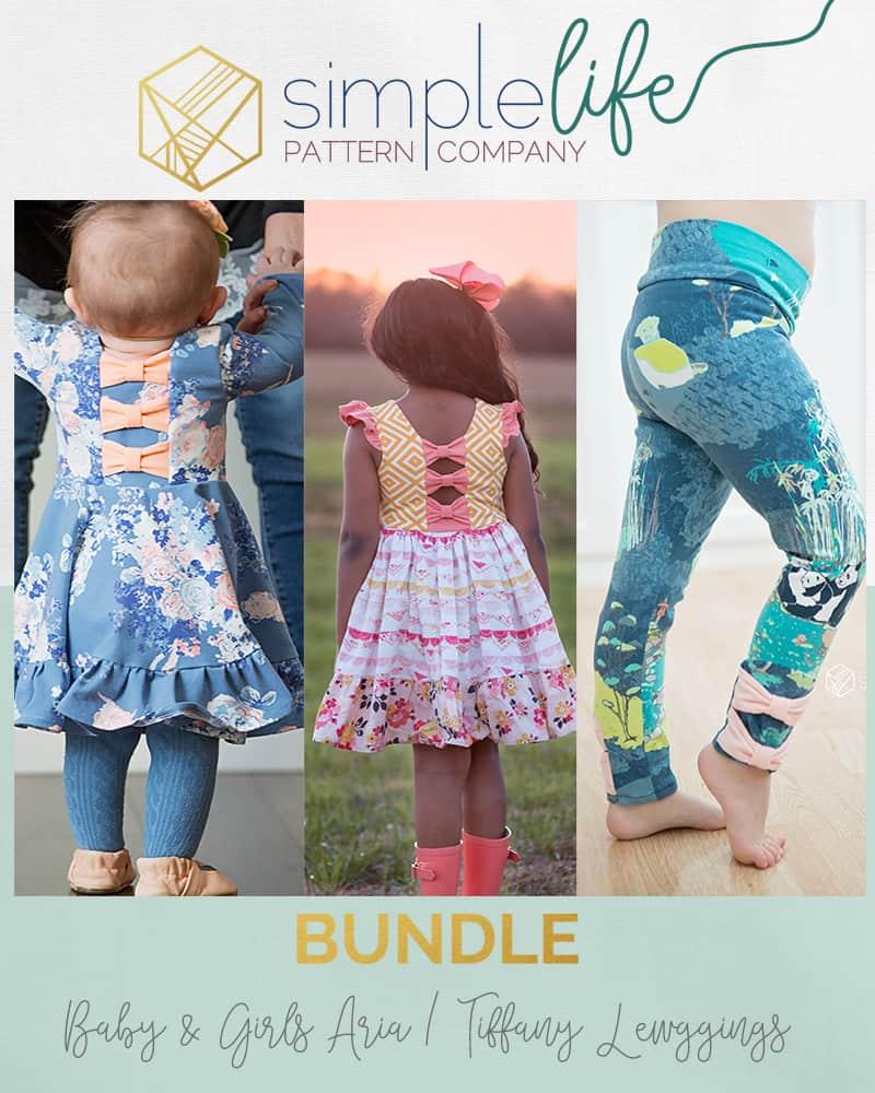 BUNDLE 3 pack: Girls & Baby Aria\'s & Girls Tiffany Leggings PDF ...
