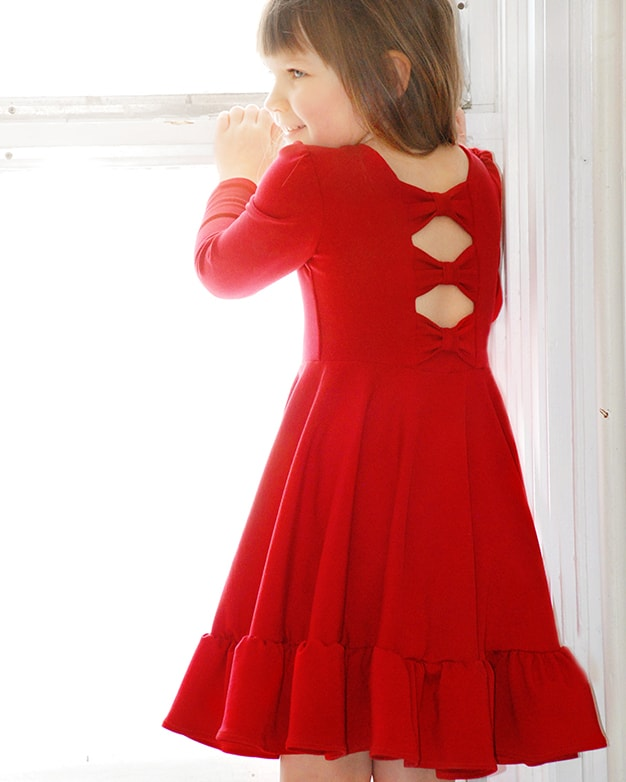 Aria S Bow Back Top Dress Pdf Downloadable Sewing Patterns For Girls Toddlers 2t 12 The Simple Life
