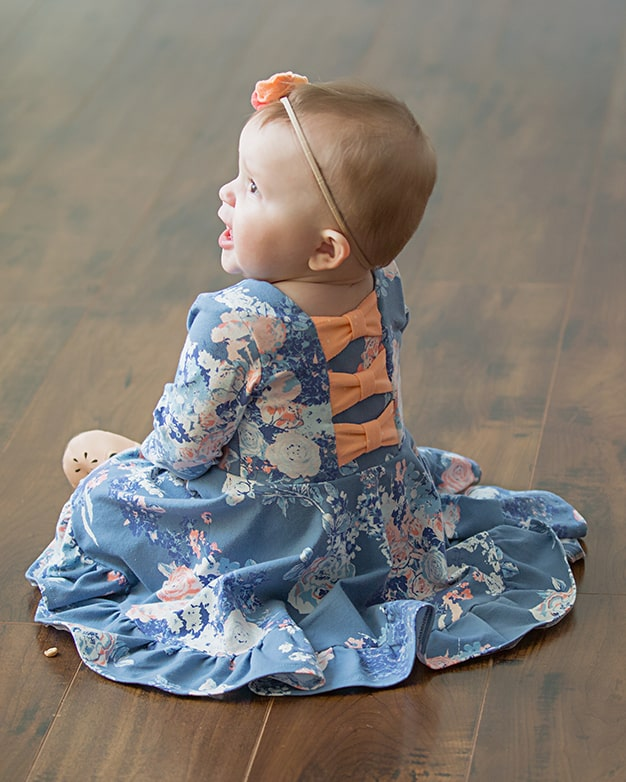 f6dc35f3d7be Baby Aria s Bow Back Top   Dress. PDF Downloadable sewing patterns ...