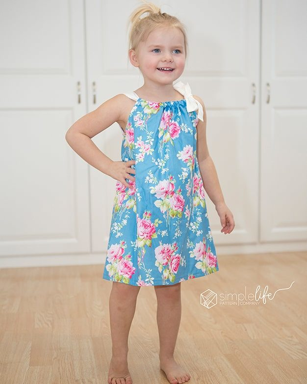 FREE Haiti's Pillowcase Dress PDF Sewing Pattern For Girls Size 40t Custom Free Pillowcase Dress Pattern