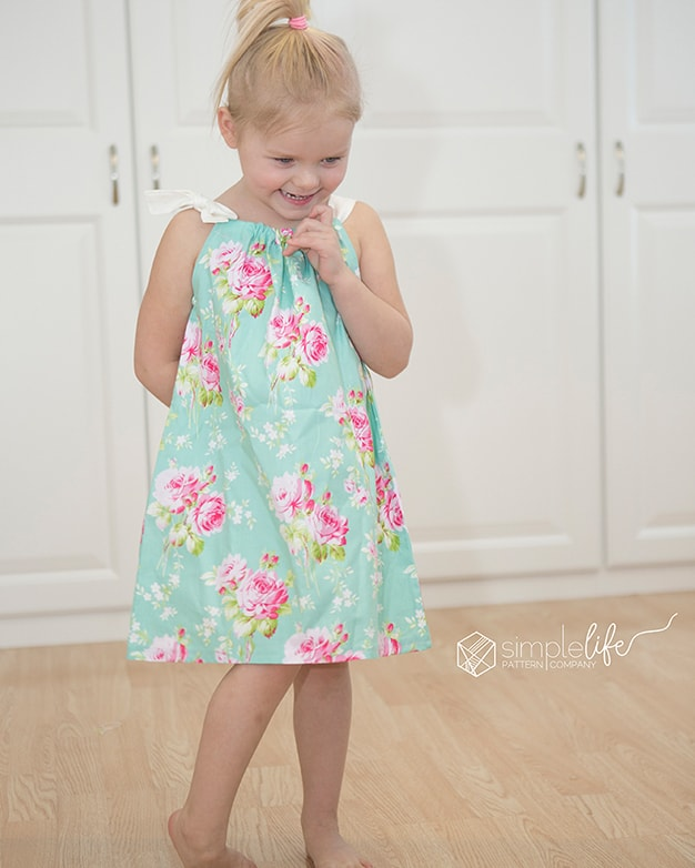 photograph regarding Free Printable Pillowcase Dress Pattern called Haitis Pillowcase Gown. PDF sewing practice for gals dimensions 2t-12.
