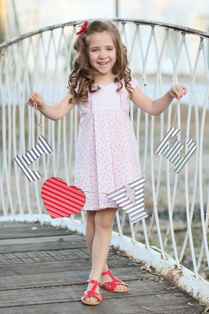 SImple Life Pattern Company | Ava's Pleated Top & Dress PDF Sewing Pattern Sizes 2T-12 SLPco Pattern of the Month Pleated Skirt Heart Pocket Free Pattern Sweetheart neckline Deep Hem Cap Sleeve Long Sleeve Sewing for Girls Sewing for Toddlers Dress Top Keyhole Back