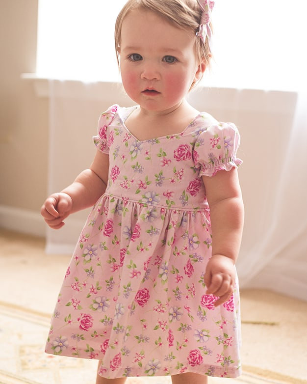 Baby Pearl\'s Zipper Dress. Downloadable PDF Pattern for baby sizes ...