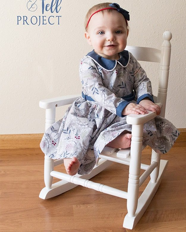 Simple Life pattern company | Baby Wendy's Classic Collar Dress. PDF Sewing Pattern Baby Sizes NB-24M Peter Pan Collar, Sleeve with Cuff, Skinny Belt, Sleeves, Long 3/4, Short, Tank, Button Back, Deep Hem, Winter, Fall, Spring, Summer, Special Occasion, Holiday, Collar