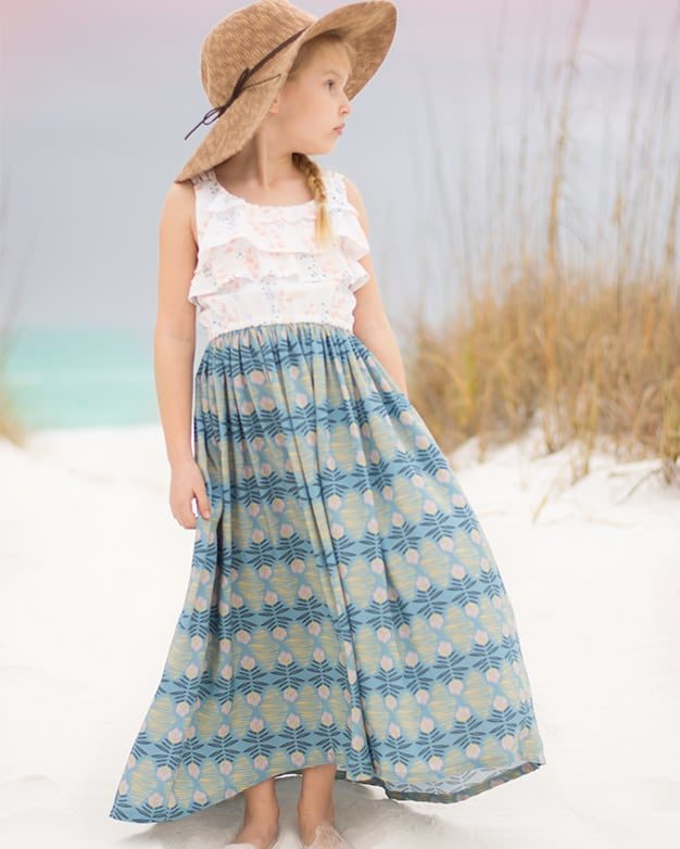 Piper's Flounce Top, Dress & Maxi | Simple Life Pattern Company SLPco High Low skirt flounce simple bodice elastic waist maxi top dress summer sleeveless beach dress