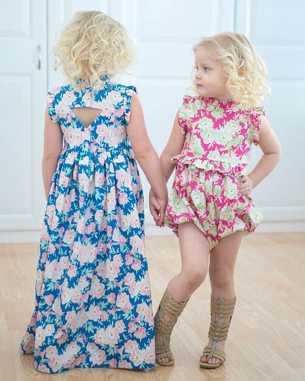 Felicity's Ruffle Top Dress Maxi Downloadable PDF Sewing Interesting Toddler Girl Dress Patterns