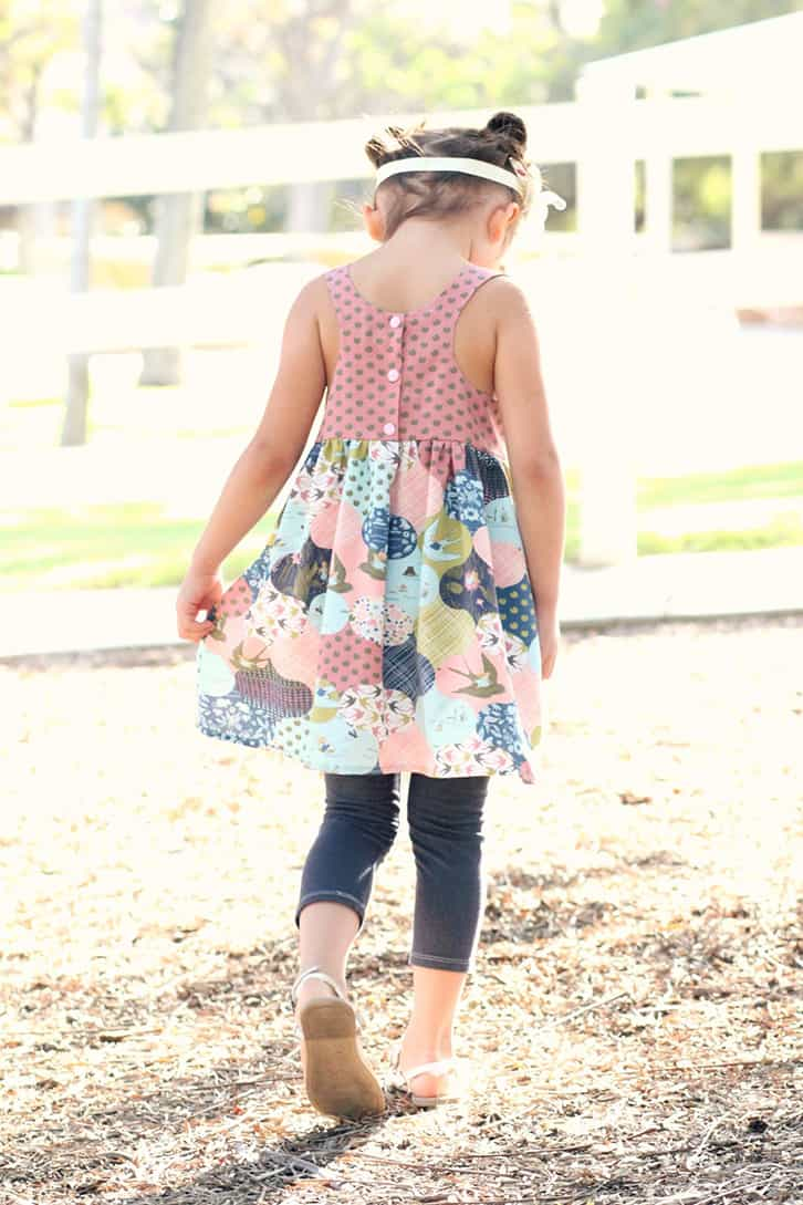 Simple Life Pattern Co | Lucy's Tunic & Dress Downloadable PDF Sewing patterns for baby Toddler and Girls, knit add on, Pattern of the Month, Dress, Tunic, Large Pockets, Racerback, Summer, Fashion, Trendy, Hawthorne Threads, modern sewing patterns