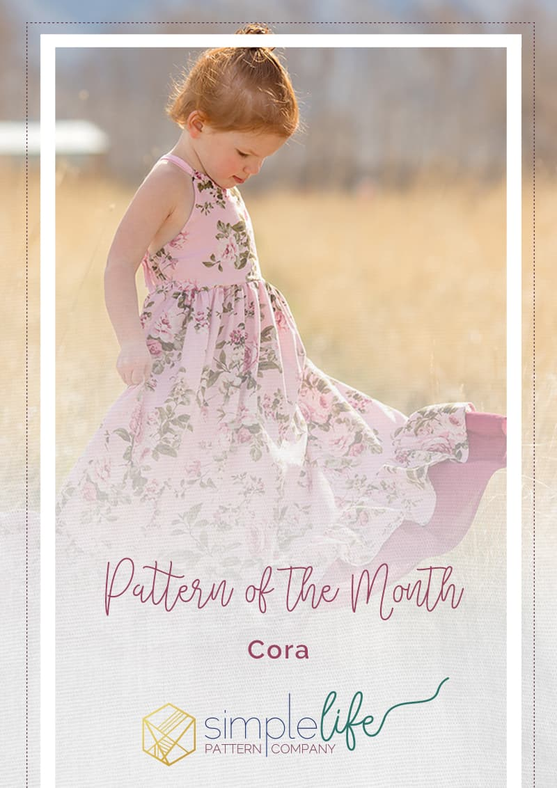 Cora's strappy back Top Dress and Maxi. Woven straps tie in back. elastic grow with me bodice. double ruffle dress. Pleated wave bodice pintucks toddler baby girls spring summer fall dress fancy special occasion party dress. beach maxi trendy Pattern of the Month POM