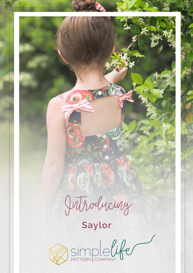 "Simple Life Pattern Company Saylor's Squared Bow Back Top & Dress. Saylor's Squared Bow Back Top & dress has such a fun and modern look as a top or dress.   Saylor features an open squared back with side bows or large center bow, square cutout back with side bows or simple square back.   Taylor can be made with the sweetest sleeve tabs or sleeveless.  The higher bodice is perfect for adding embellishments or monograms.  Saylor also features a simple skirt with a deep hem or ruffle skirt. Top version only has simple skirt option but the dress features both versions. Square back fancy play dress holidays pdf sewing pattern bows sleeve tabs ruffle skirt summer spring trendy modern bonus hair bow tutorial 2"" bows 3"" bows 5"" bows"