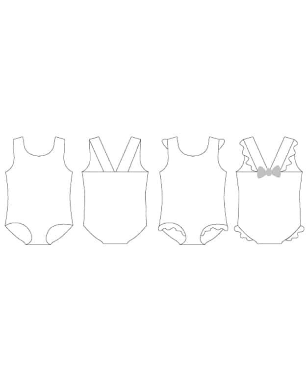 Harbor\'s Flutter Back Swimsuit. Downloadable PDF Sewing Pattern ...