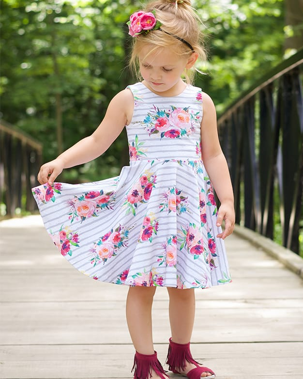 Skyler's Square Back Top & Dress  Downloadable PDF Sewing Pattern for  Toddler and Girl Sizes 2t-12