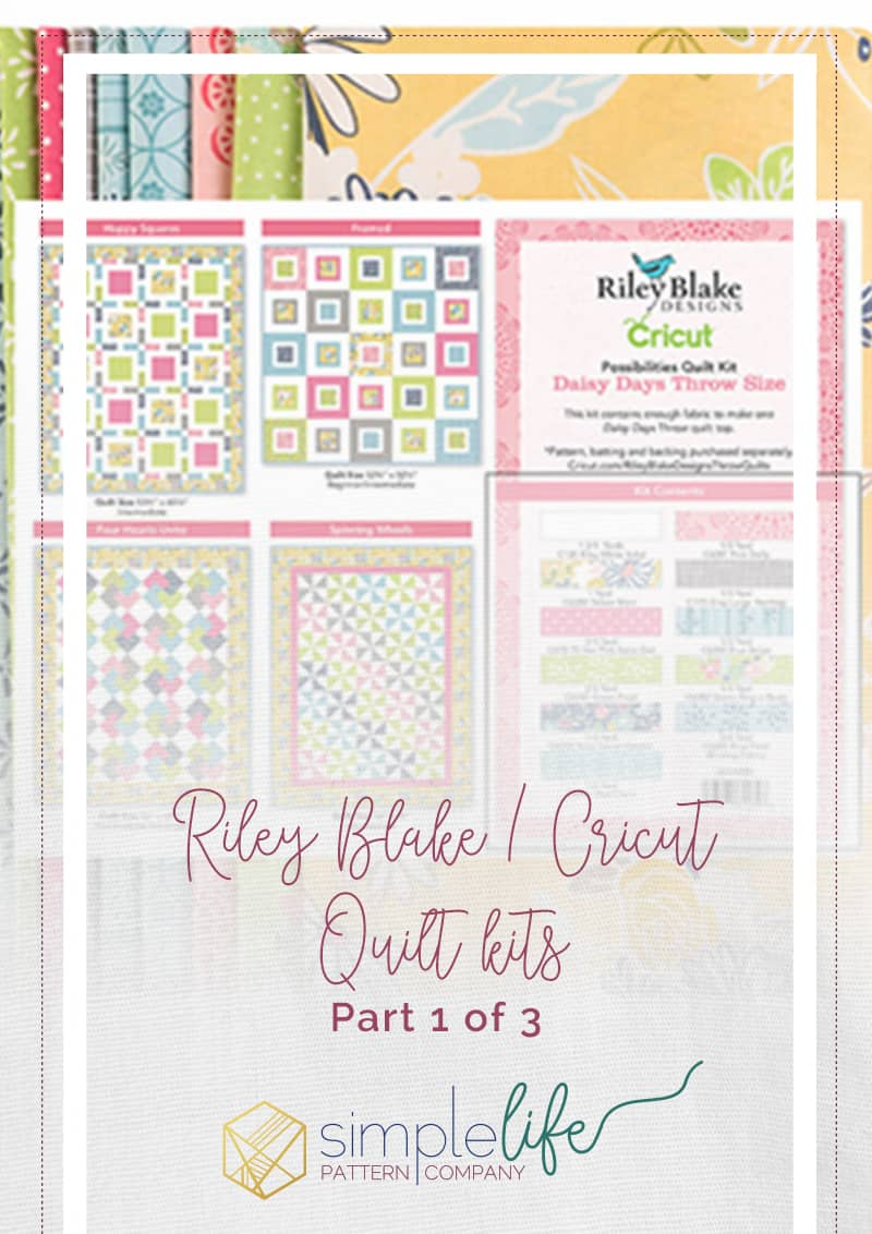 Riley Blake Designs fabric quilt kits for the cricut maker Daisy Days fabric for a throw size quilt using the free quilt pattern Around we go baby quilt pattern. How to modify and make it bigger. super fast easy beginner friendly sewing quilting pdf pattern design space how to tutorial guide quilt along. cutting machine for all materials and fabrics rotary cutter applique