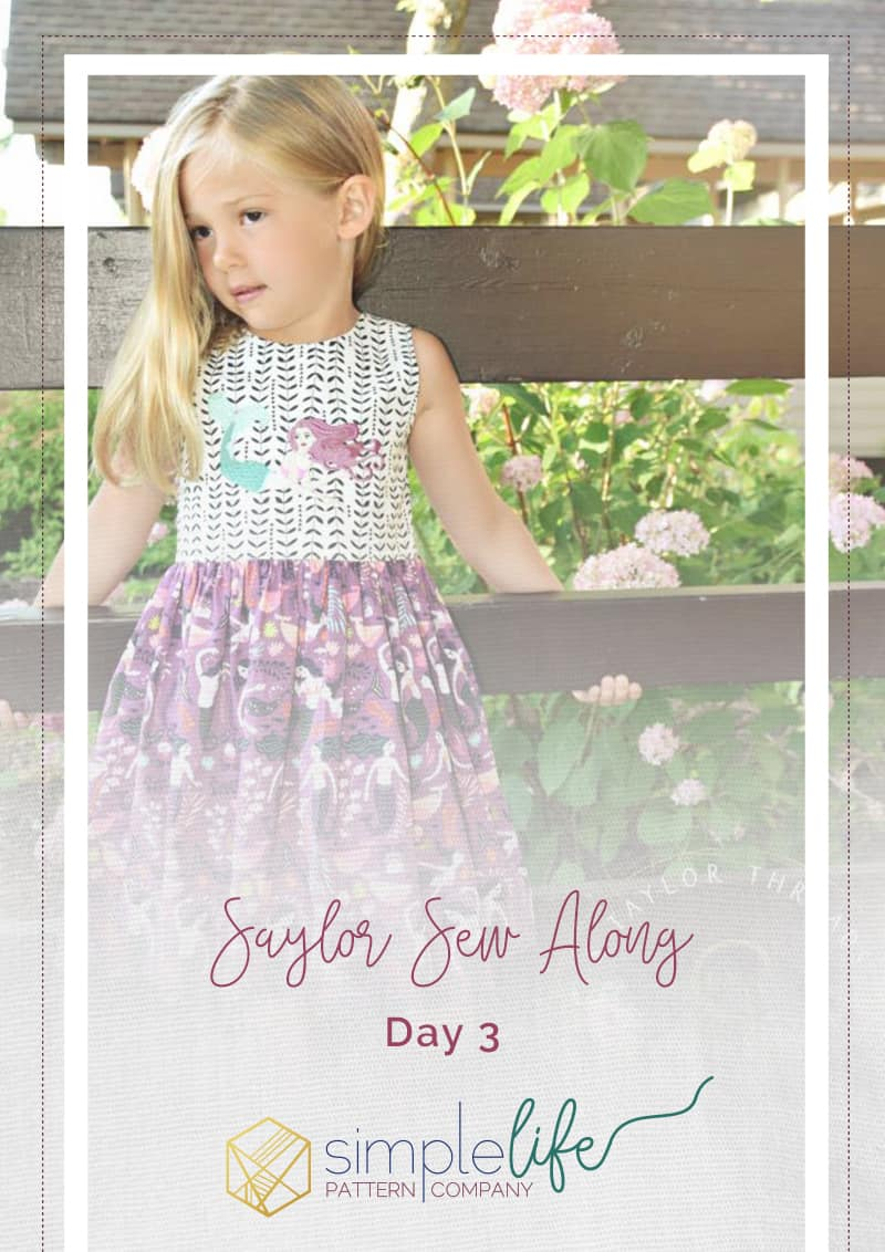 "Simple Life Pattern Company | Saylor Sew Along Saylor's Squared Bow Back Top & Dress. Saylor's Squared Bow Back Top & dress has such a fun and modern look as a top or dress.   Saylor features an open squared back with side bows or large center bow, square cutout back with side bows or simple square back.   Taylor can be made with the sweetest sleeve tabs or sleeveless.  The higher bodice is perfect for adding embellishments or monograms.  Saylor also features a simple skirt with a deep hem or ruffle skirt. Top version only has simple skirt option but the dress features both versions. Square back fancy play dress holidays pdf sewing pattern bows sleeve tabs ruffle skirt summer spring trendy modern bonus hair bow tutorial 2"" bows 3"" bows 5"" bows S Taylor Threads Summer Sewing"