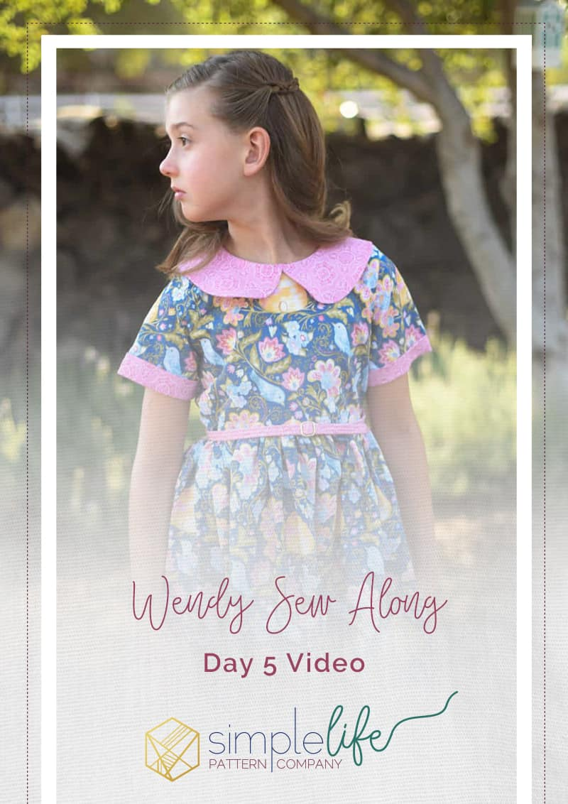 Simple Life Pattern Company | Wendy's Classic Collar Dress Downloadable PDF Sewing Pattern for Girls and Toddlers sizes 2-12. Wendy is available in GIRL, BABY and DOLL sizes. This is a classic vintage-style dress you will absolutely fall in love with. Designed for woven fabrics, this pattern features endless options. Wendy features a simple bodice with optional peter-pan collar. Trim the collar with piping or crochet lace for a special look. This pattern offers a full coverage back that buttons (or snaps) up the back. Choose from sleeveless, short, 3/4, and long with or without optional cuffs. The skirt is a full gathered skirt with a deep hem and optional inseam pockets. As the perfect finishing touch there is an optional skinny belt with belt loops to keep it in place. This dress is great for everyday play or dress it up with satin and sequins for a special occasion. Wendy Sew Along Video
