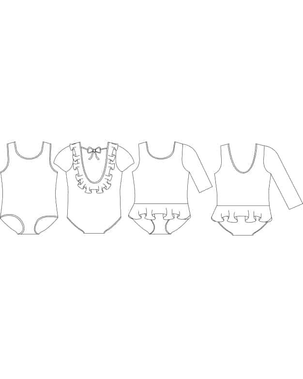 Baby Lydia\'s Ruffle Back Leotard. Downloadable PDF Sewing Pattern ...