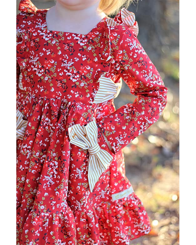 Betty S Ultimate Twirl Flounce Flutter Circle Skirt Bow