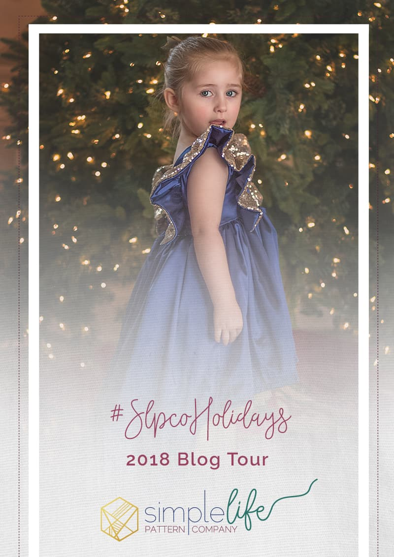 Hello Simple Life Pattern Company fans! Gail here from Little Pink Pumpkin. I am so excited to bring you this years holiday blog tour! We have an absolutely fantastic line-up of bloggers who will be sharing their amazing holiday projects made using  Simple Life Patterns.