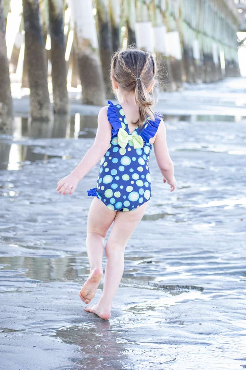 It's Swim Month: April 2019| The Simple Life Company Downloadable PDF Sewing Pattern for Girl's and Toddler Sizes 2T-12 | HARBOR'S FLUTTER BACK SWIMSUIT | LORELEI'S FLUTTER CUTOUT SWIMSUIT | CORDELIA'S SWIMSUIT COVERUP | MARINA'S CRISS CROSS TANKINI & ONE PIECE | Swimsuit, Summer, Bikini, Beachwear, Swimwear, Resortwear, Fashion, tropical, pool, bathing suit, beach wear, swim wear, resort wear, vacation