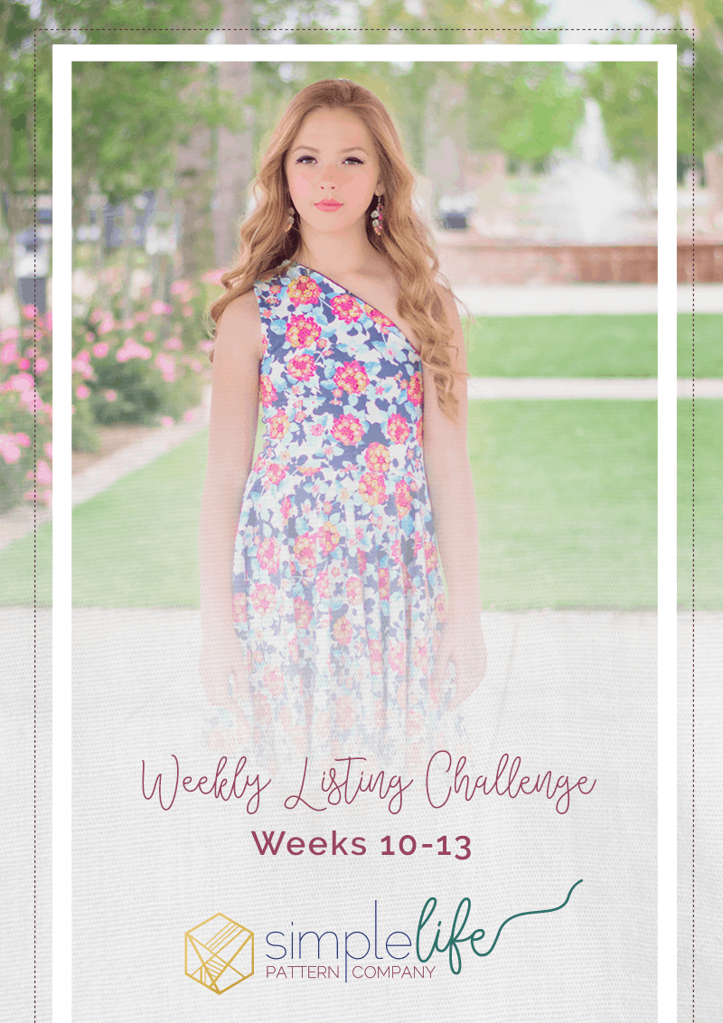 Weekly Listing Challenge: May 2019 | The Simple Life Company | Welcome to week 10 of our weekly listing photo challenge! Each week we will be featuring a different pattern for the challenge. You, our fans, can purchase the pattern for 10% off (for that week only) and will sew up and photograph your modeled makes. Our team will then choose a winner, based on photography, whose photo will be used as our new listing cover photo! | Girl's dresses, pdf sewing pattern, girl's fashion