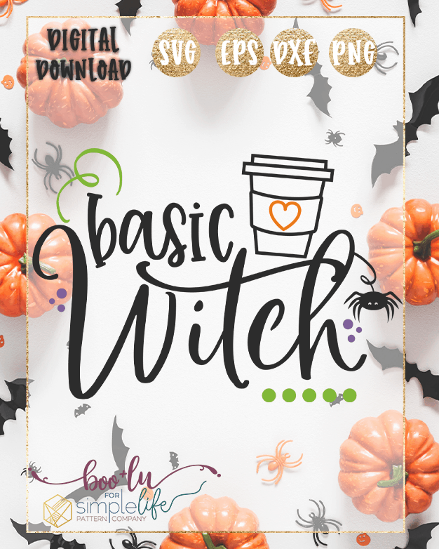 Basic Witch Cut file SVG PNG DXF EPS for Cricut Silhouette Brother Iron on HTV heat transfer vinyl crafting scrapbooking fall halloween funny shirt t-shirt boys girls card making vinyl decals signs and home decor window cling paper crafts invitations party
