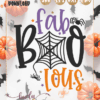 Fab Boo Lous fabulous Cut file SVG PNG DXF EPS for Cricut Silhouette Brother Iron on HTV heat transfer vinyl crafting scrapbooking fall halloween funny shirt t-shirt boys girls card making vinyl decals signs and home decor window cling paper crafts invitations party