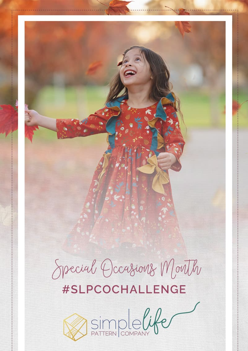 Special Occasions Monthly Challenge | The Simple Life Pattern Company | Janice Guzman