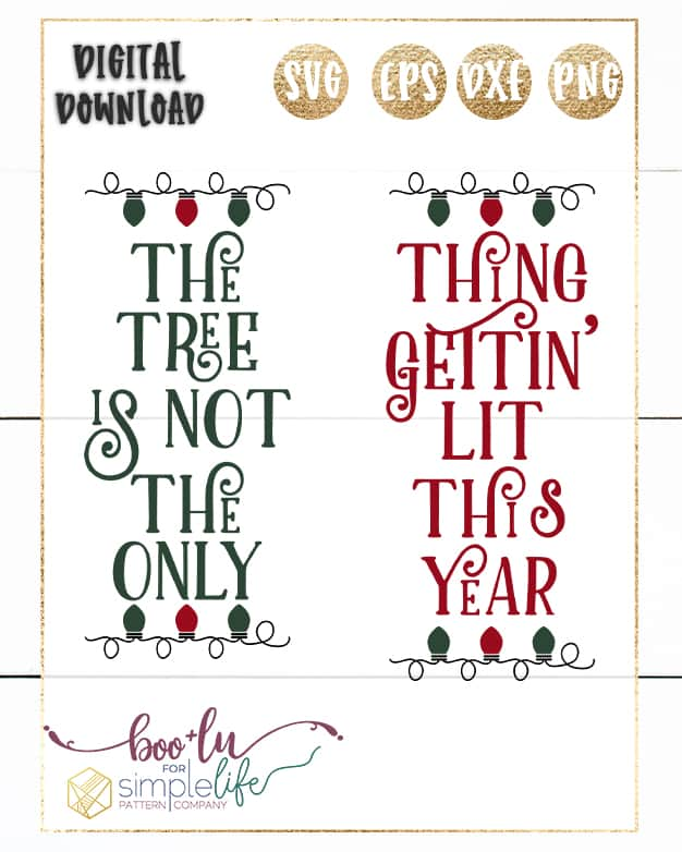 Not the only thing getting lit this year SVG Cut File for Cutting Machines | Boo and Lu for Simple Life Pattern Company