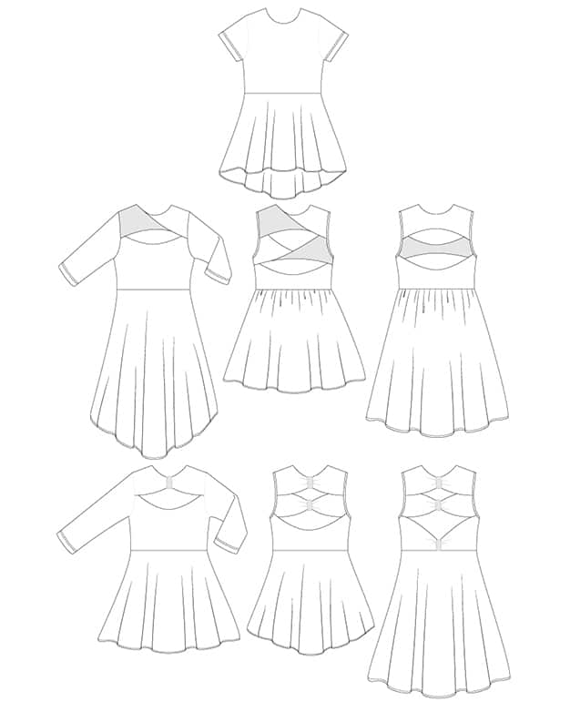 Malibu Twist Bow Back Top Dress Pdf Downloadable Sewing Pattern