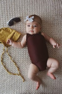 Baby Lorelei's Flutter Cutout Swimsuit. Downloadable PDF Sewing Pattern for Baby Sizes Newborn to 24 Months Baby Lorelei is a beautiful swimsuit with so many fun options! Baby Lorelei features a one shoulder look. It can be made very simple or you can have some fun and add the vertical flutter or the pretty little cutout. This swimsuit is perfect for all those hot summer days playing in the pool, on the beach or at the lake.