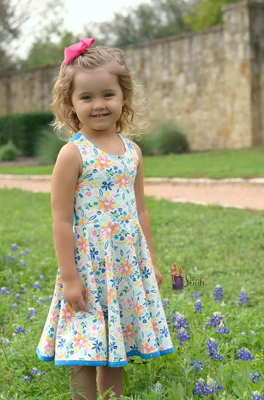 April Garden Party Monthly Challenge | SLPcoChallenge | The Simple Life Company | PDF sewing patterns for baby toddler girls