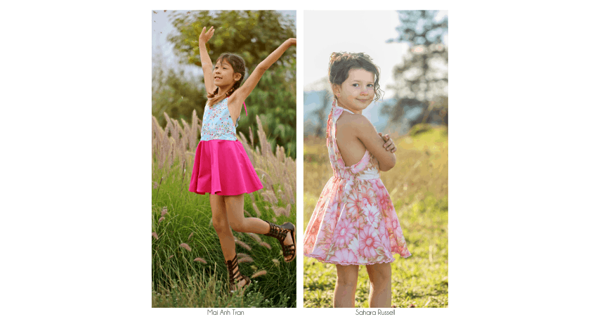 Pippa Tester Roundup | The simple Life Pattern Company | Pippa's Scalloped Romper and Dress