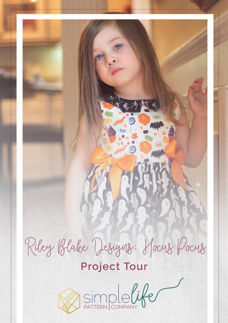 Riley Blake Designs Hocus Pocus Project Tour | The Simple Life Pattern Company | Clara