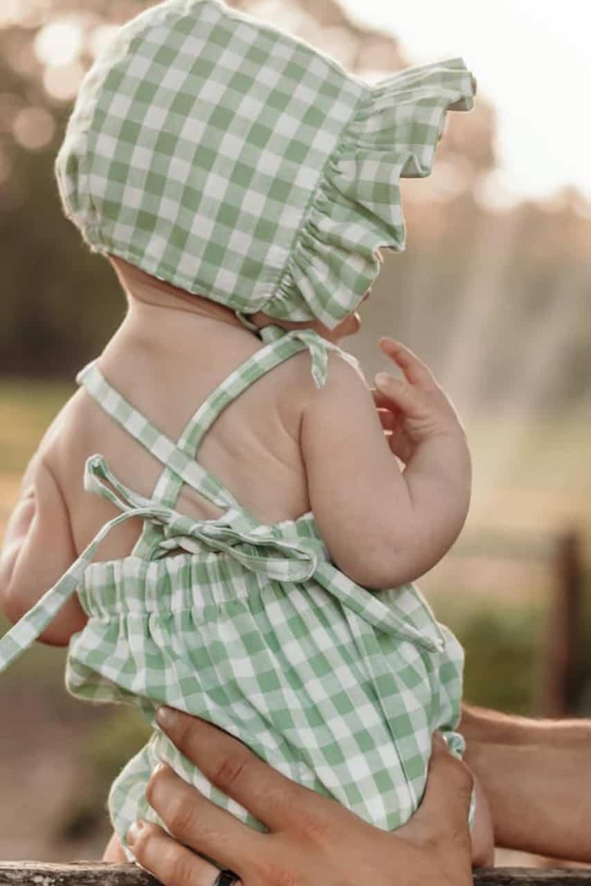 Simple Life Pattern Company | Daisy's Sun Bonnet for BERNINA Daisy Bonnet How to add a Ruffled Brim